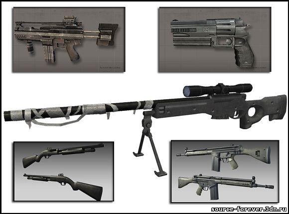 Оружия из BF:2 и BF:2142. Пак оружия и экипировки.